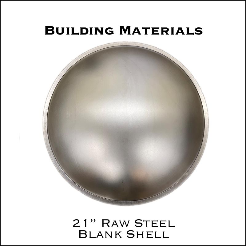 "21"" Raw Steel Blank Shell"