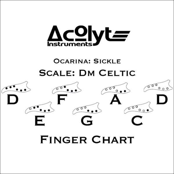 Acolyte Sickle Ocarina - Dm Celtic Companion-purple-blue-chart