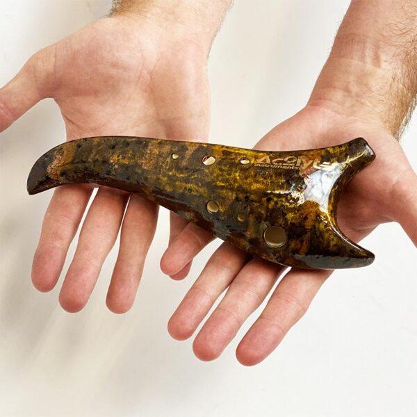 Acolyte Sickle Ocarina -F Hijaz Companion-brown-gold-hand